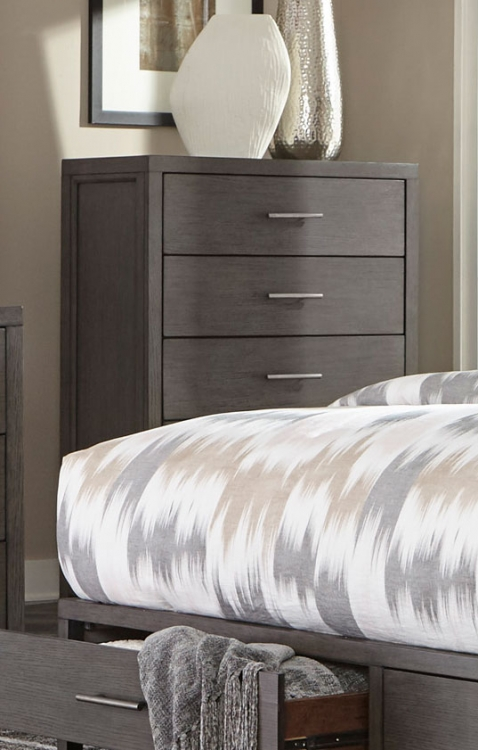Fondren Chest - Dark Gray/Brown