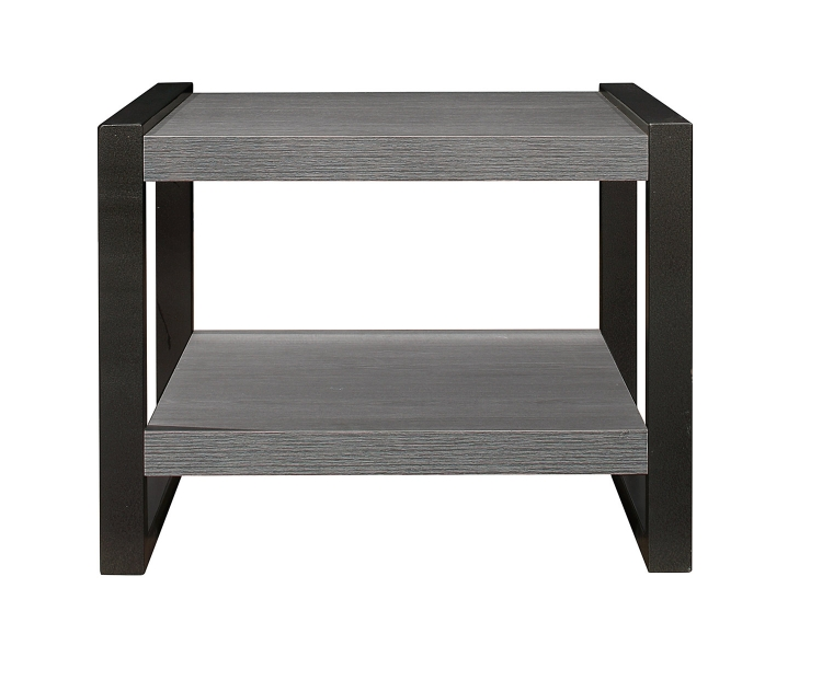 Dogue End Table - Gunmetal Gray