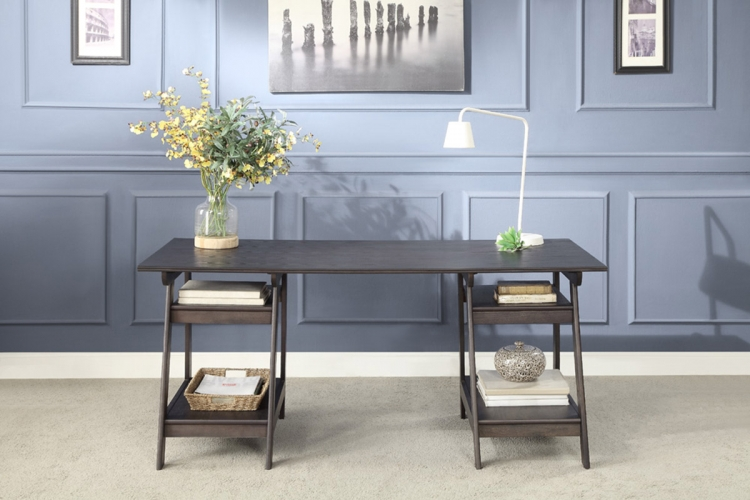 Hilles Writing Desk - Dark Charcoal