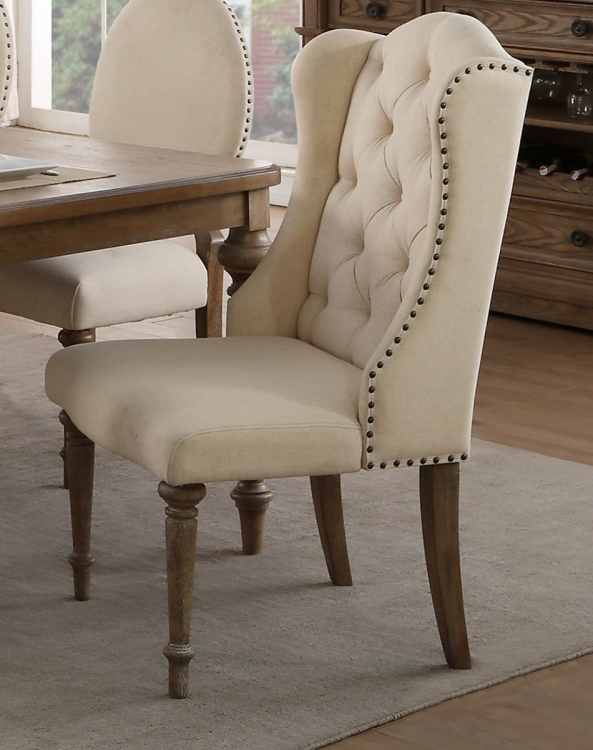 Avignon Arm Chair - Natural Taupe