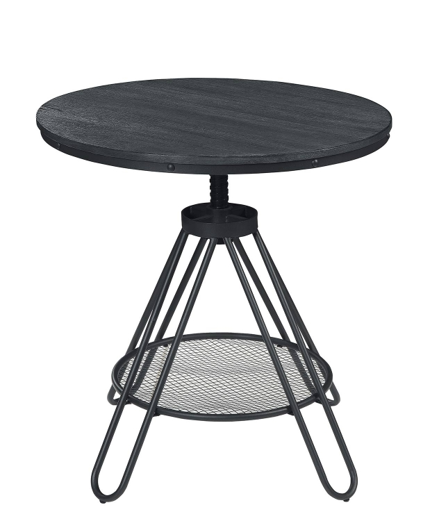 Cirrus Adjustable Round Dining Table - Weathered Gray
