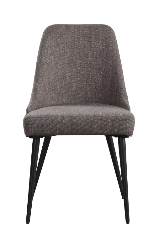 Palladium Side Chair - Elm Solid - Grey Powder Coated Metal