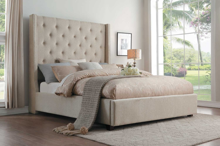 Fairborn Platform Storage Bed - Beige