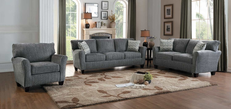 Alain Sofa Set - Gray