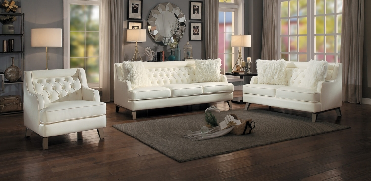 Nevaun Sofa Set - Cream