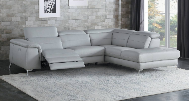 Cinque Reclining Sectional Sofa - Light Grey