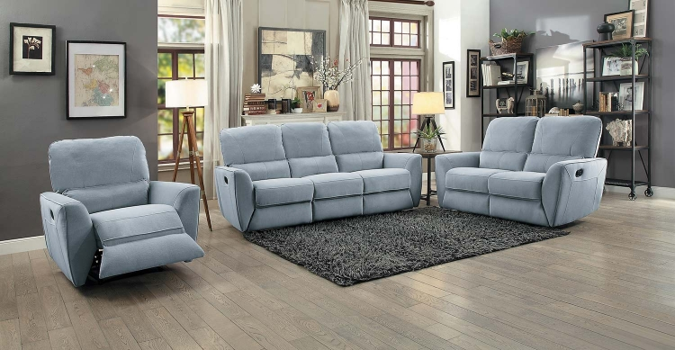 Dowling Reclining Sofa Set - Light Gray