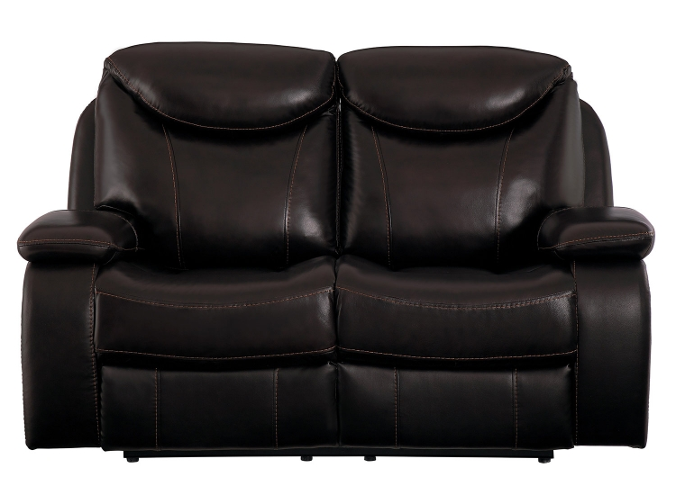 Verkin Double Reclining Love Seat - Dark Brown