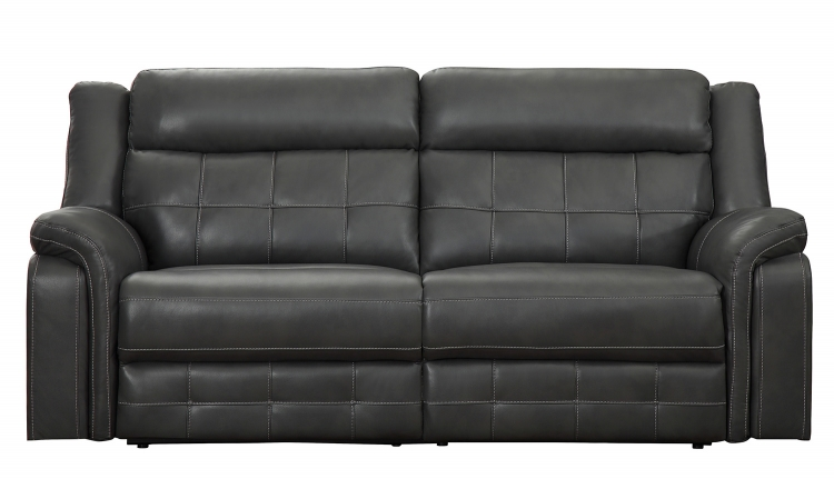 Keridge Double Reclining Sofa - Gray AireHyde