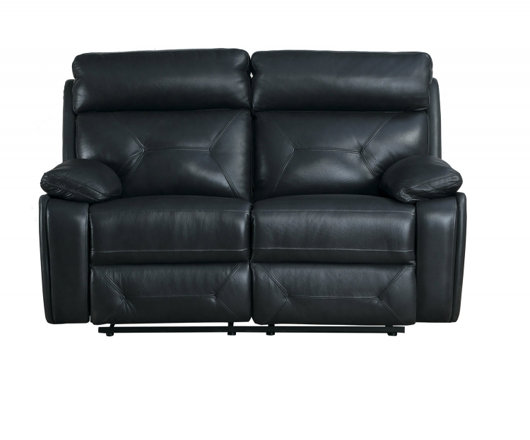 Resonance Double Reclining Love Seat - Dark Gray