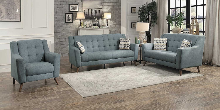 Basenji Sofa Set - Gray