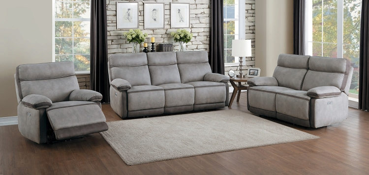 Barilotto Power Reclining Sofa Set - Gray