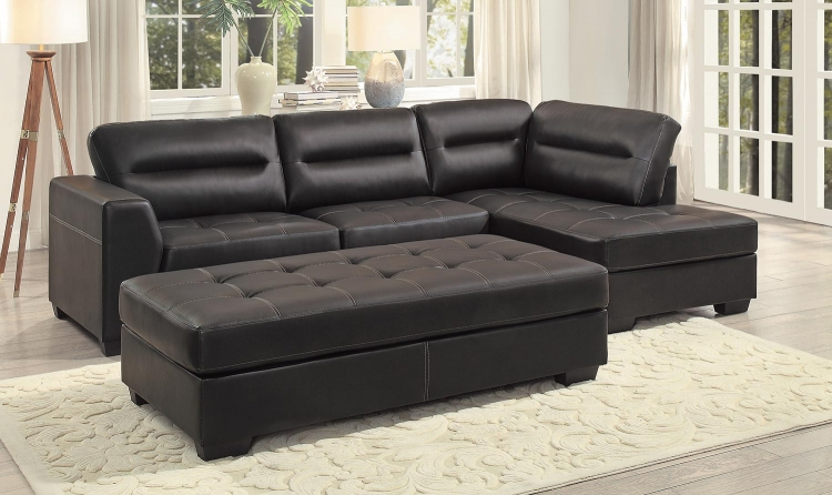 Terza Sectional Sofa Set - Dark Brown AirHyde