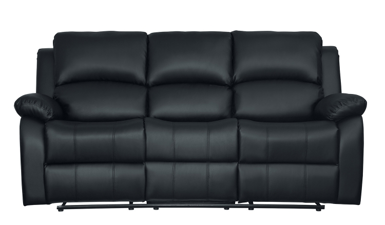 Clarkdale Double Reclining Sofa With Center Drop-Down Cup Holders - Black