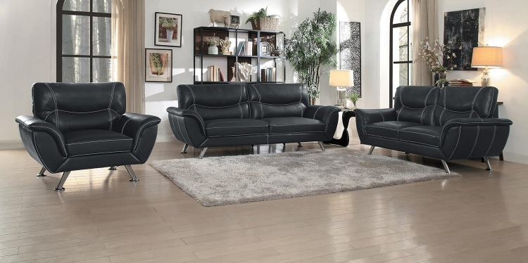 Jambul Sofa Set - Black