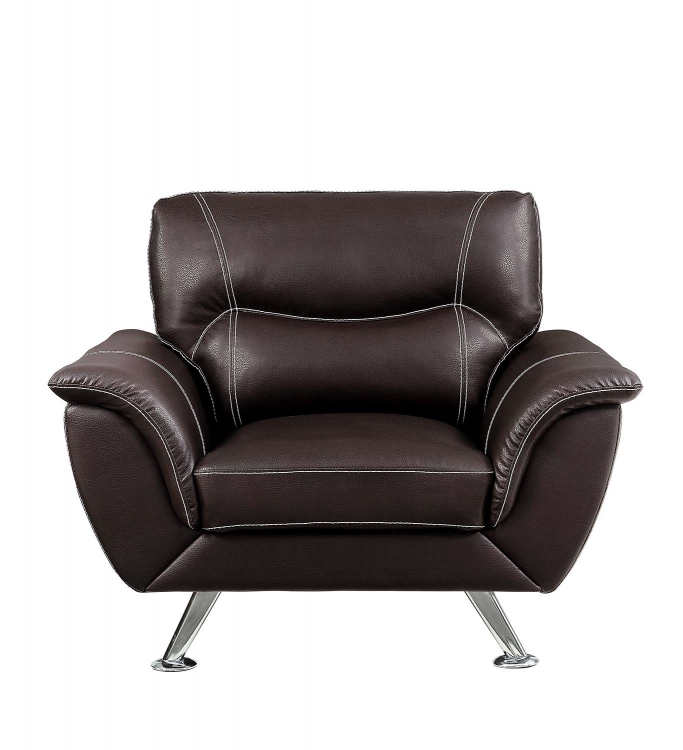 Jambul Chair - Dark Brown - Dark brown bi-cast vinyl