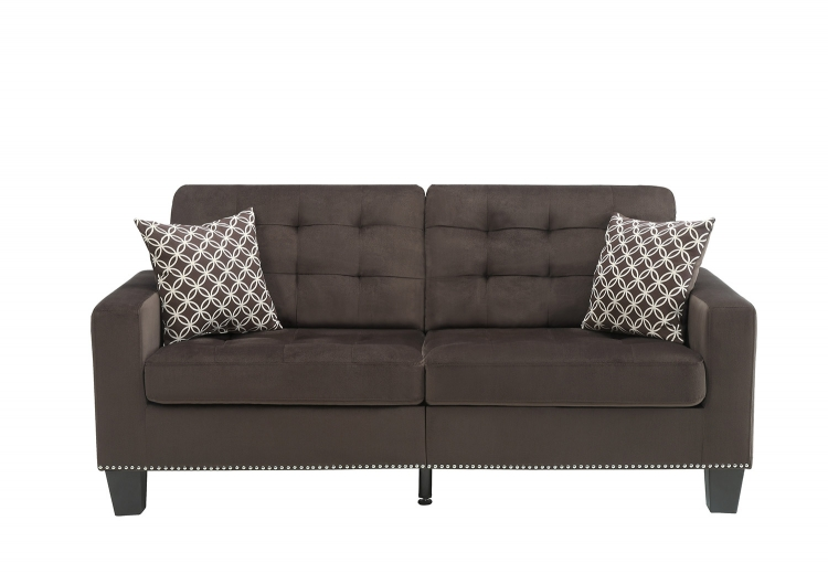 Lantana Sofa - Chocolate and Gray