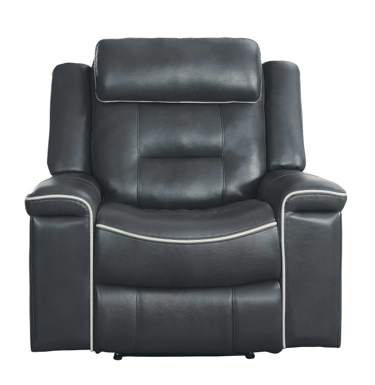 Darwan Lay Flat Reclining Chair - Dark Gray