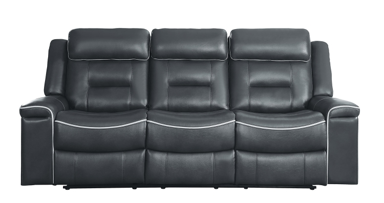 Darwan Double Lay Flat Reclining Sofa - Dark Gray