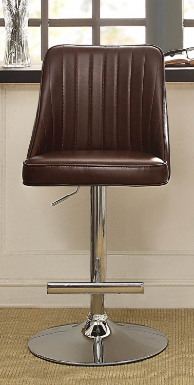 Caleb Airlift Swivel Adjustable Stool - Burgundy