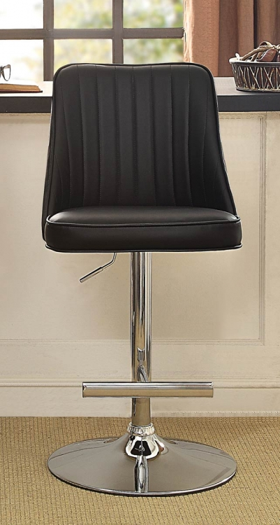 Caleb Airlift Swivel Adjustable Stool - Black