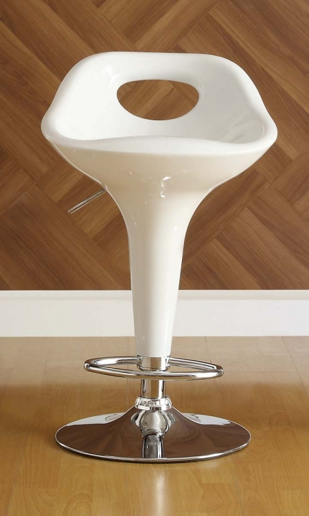 1147WHT Ride Swivel Stool - White