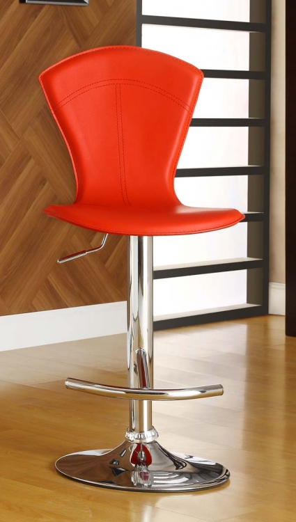 1148RED Ride Swivel Stool - Red