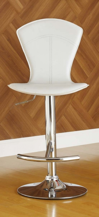 1148WHT Ride Swivel Stool - White