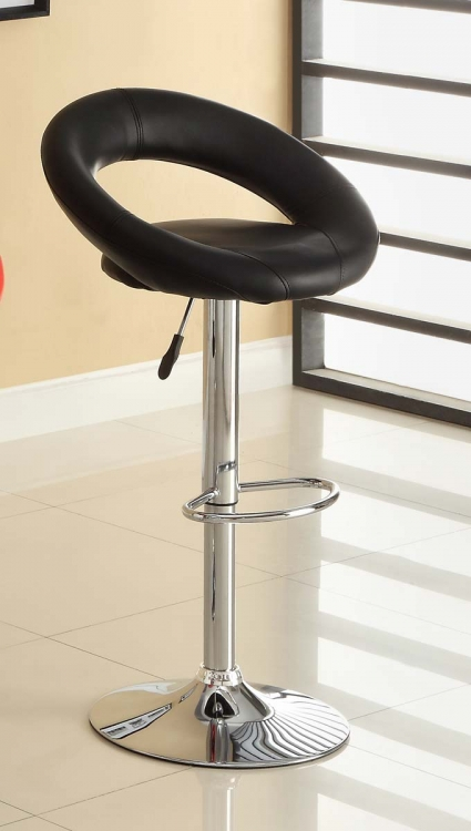 1155BLK Ride Swivel Stool - Black