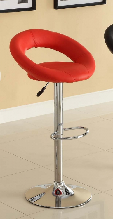 1155RED Ride Swivel Stool - Red