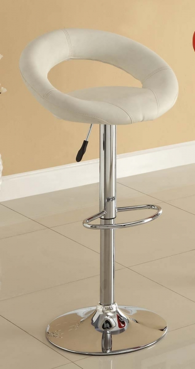 1155WHT Ride Swivel Stool - White