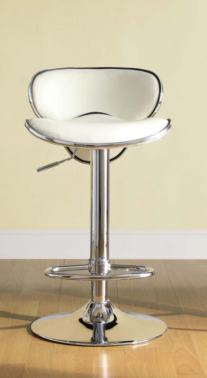 1156WHT Ride Swivel Stool - White