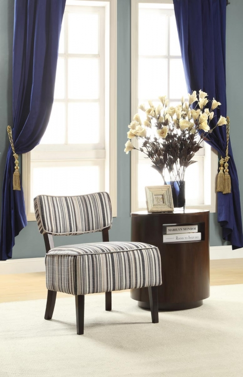orson accent chair striped fabric