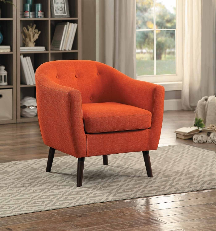 Lucille Accent Chair - Orange