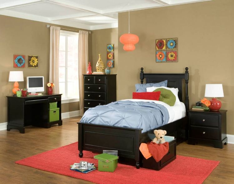 Morelle Captain's Bedroom Set - Black