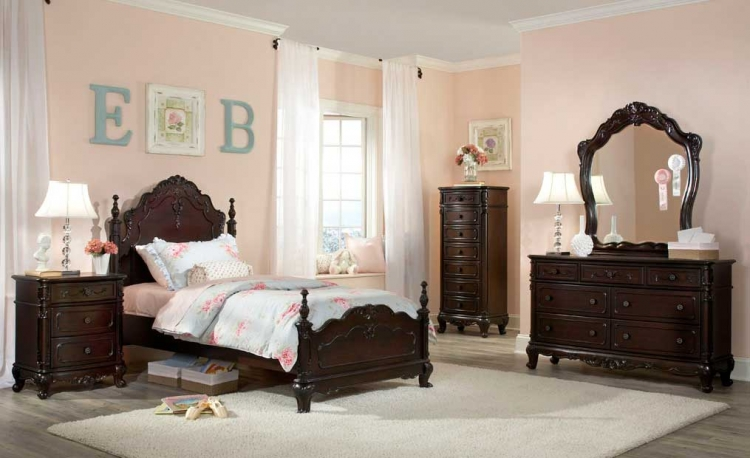 cinderella bedroom set dark cherry