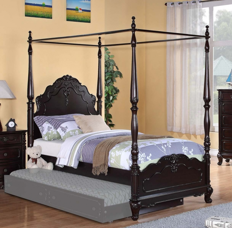 Cinderella Poster Bed - Dark Cherry