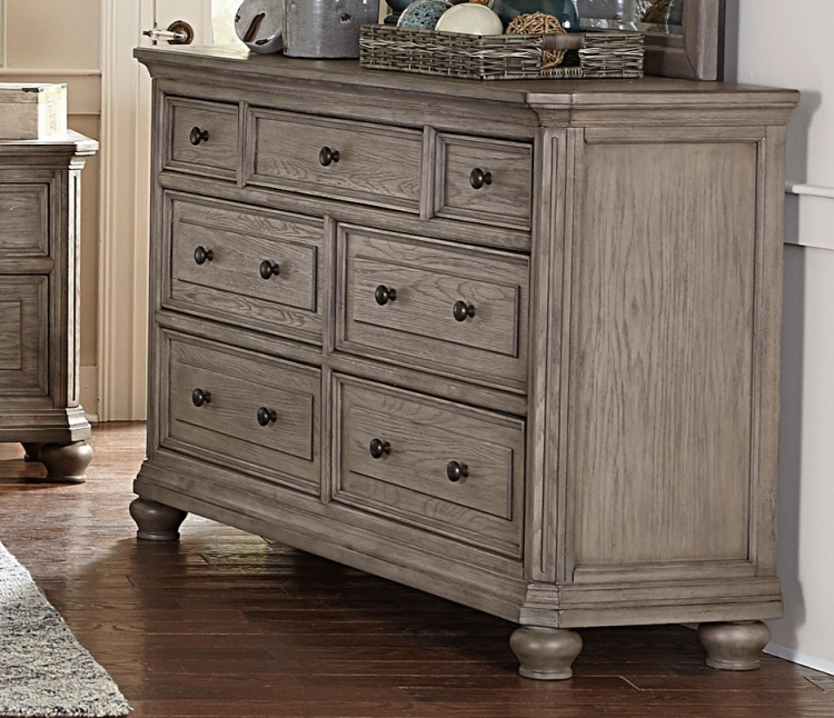 Lavonia Dresser - Wire-brushed Gray