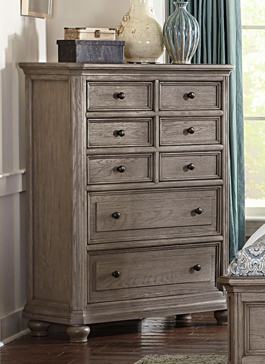 Lavonia Chest - Wire-brushed Gray