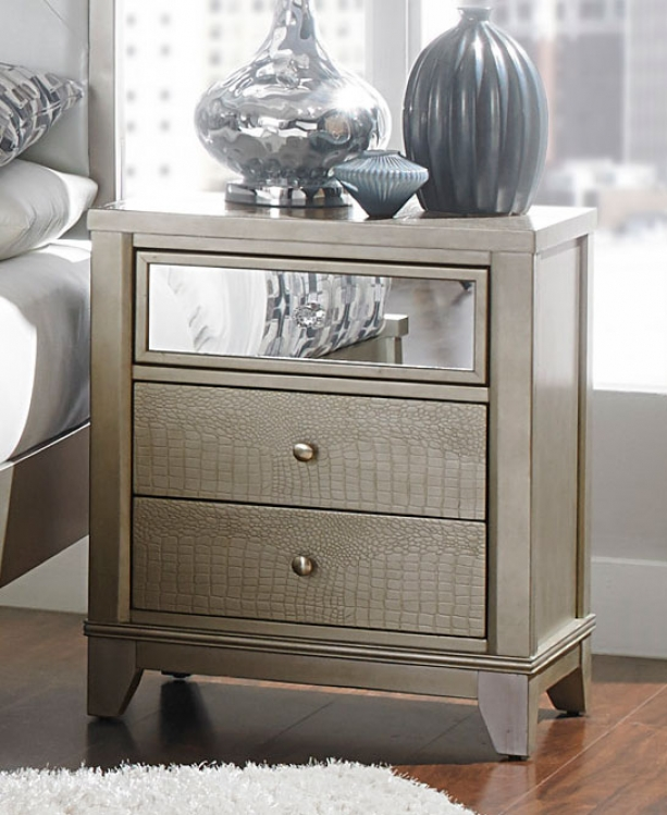 Odelia Night Stand - Silver