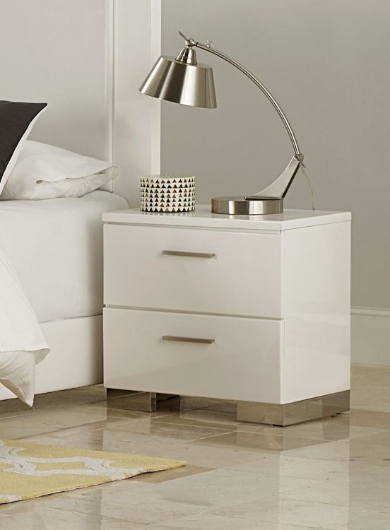 Linnea Night Stand - High-Gloss White