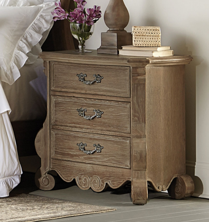 Chrysanthe Night Stand - Oak