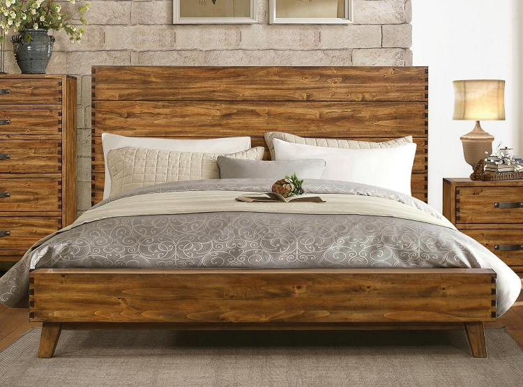 Sorrel Panel Platform Bed - Rustic
