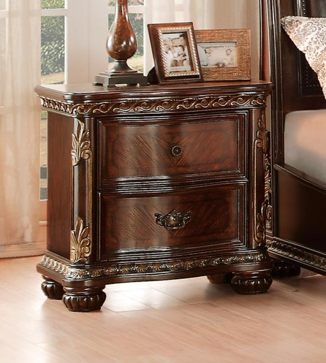 Chaumont Night Stand - Burnished Brown Cherry