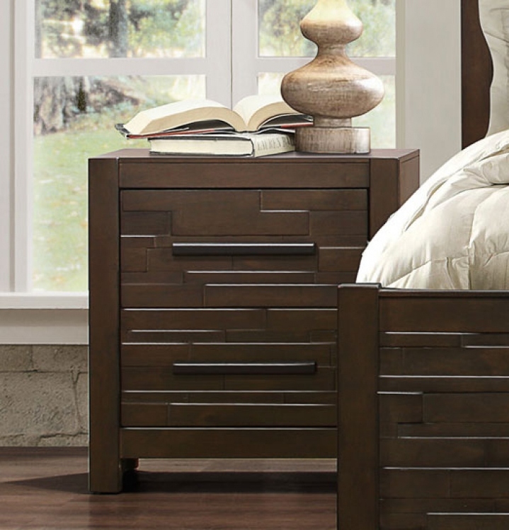 Bowers Night Stand - Rustic Java Brown
