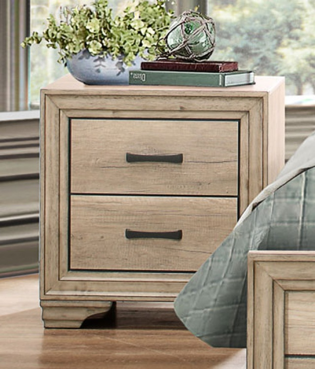 Lonan Night Stand - Weathered