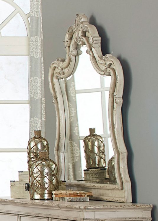 Elsmere Mirror - Antique Gray