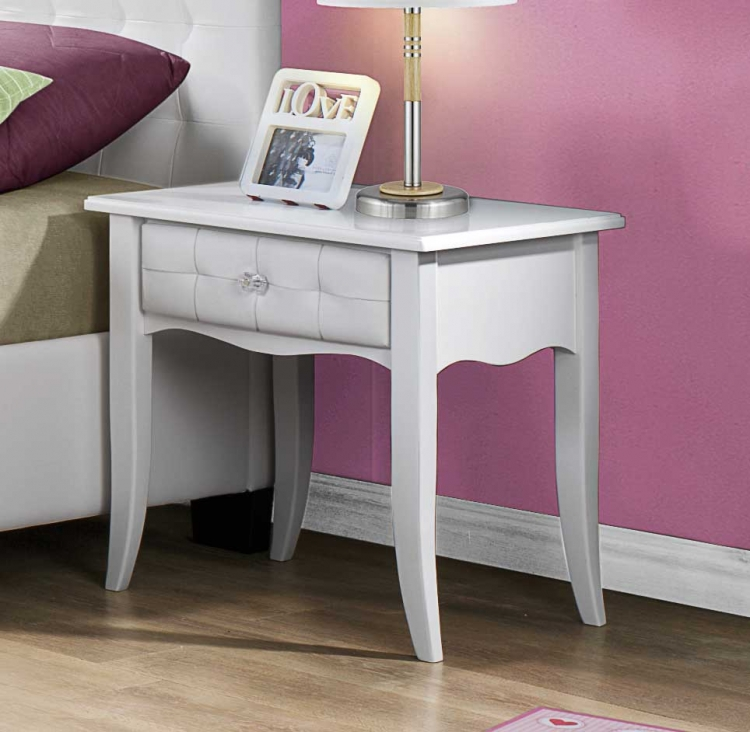 Sparkle Night Stand - White