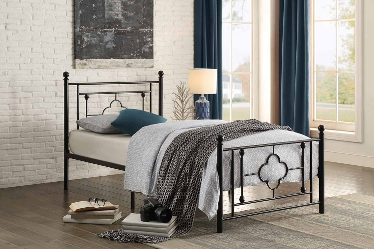 Morris Metal Platform Bed - Black