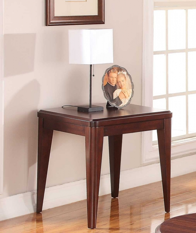 Beaumont End Table - Brown Cherry